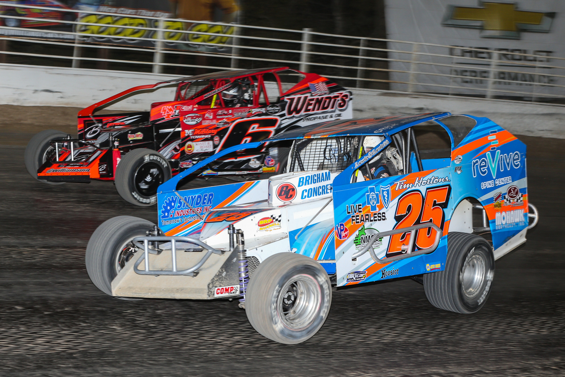Salute the Troops 150 - NAPA Auto Parts Super DIRT Week XLVIII - Oswego Speedway - 6M Mat Williamson, 25 Erick Rudolph